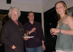Professor Christian Kay, David Beavan and Dr Wendy Anderson at the launch party